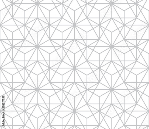 Recess Fitting Pattern The geometric pattern with lines. Seamless vector background. White and grey texture. Graphic modern pattern. Simple lattice graphic design.
