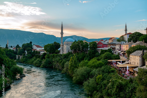Printed kitchen splashbacks Turkey Mostar historic town in yugosavian war. A famous tourist destination in Bosnia and herzegovina former Yuoslavia.