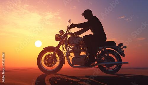 Motorcyclist Fotobehang