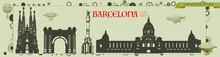 Barcelona Silhouette, Vector S...
