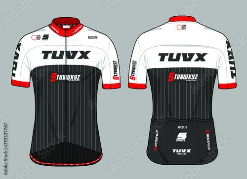 Obraz na plátně Cycling jersey uniform team kit biking design vector