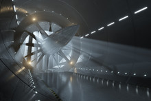 Wind Tunnel With Light Rays
