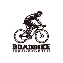 Road Bike Logo Vector