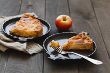 Two Pieces Of Homemade Apple P...