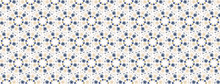 Tiny Daisy Mandala Seamless Border Pattern . Kaleidoscope Floral Ribbon Trim. Vector Daisies Geometric Edging Banner.