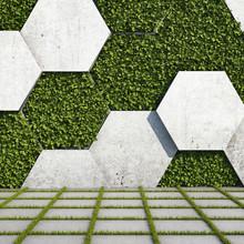 Modern Wall Decoration With Vertical Green Garden
