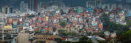 Rio de Janeiro downtown and favela Wallpaper Mural