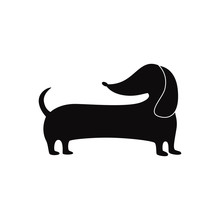Cute Wiener Dog Silhouette Iso...