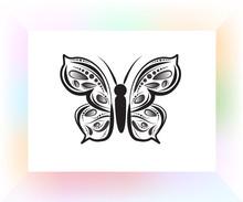 Butterfly Mandala Art Logo Vec...