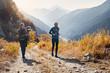 Leinwanddruck Bild - Trail running movie backstage