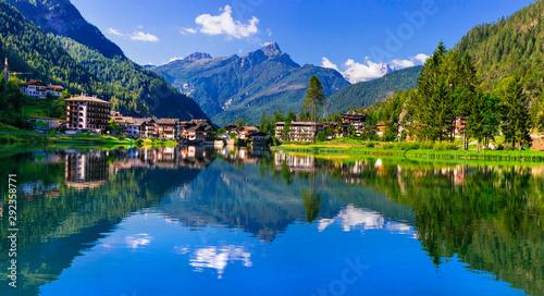 Amazing alpine scenery, Dolomites mountains Tapéta, Fotótapéta