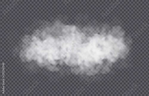 Photo  Fog or smoke cloud isolated on transparent background