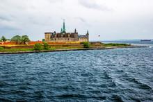 Waterfront View Of Kronborg Castle In Elsinore, Denmark