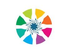 Teamwork Logo  Vector Icon Illustration Design