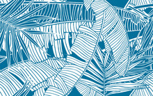 Tropical Leaves Pattern. Seaml...
