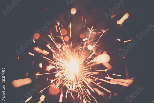 Burning Colorful Fire Sparkle Wallpaper Mural