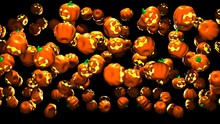 Jack O Lanterns.3D Render Illustration.