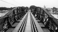 Railway Black Metal Bridge River Kwai Thailand Architecture Train Line