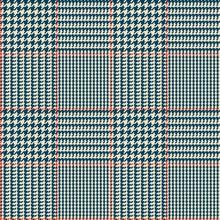 Glen Check Blue Checkered Seam...