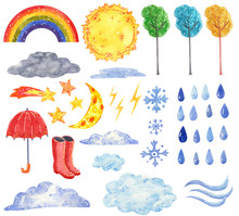 Weather Forecast Clipart Set, ...