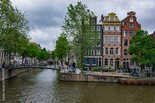 Aluminium Prints Amsterdam Cityscape of Amsterdam, Netherlands, Europe