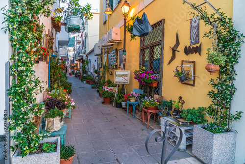 Colorful street Ischia, Italy