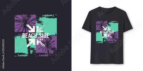 Fotomural Beachside stylish graphic tee vector design, print