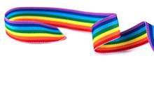 Gay Pride Rainbow Curly Ribbon...