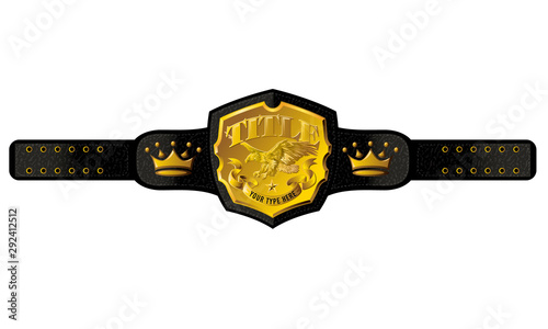 Cuadros en Lienzo  Title Championship Belt Vector