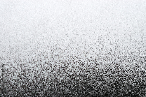 Fotografie, Tablou Steamy window background. Drops of condensate on the glass