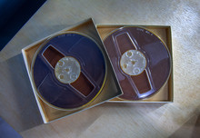Two Vintage Magnetic Audio Reel In The Box
