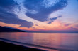 Sunrise about lake Baikal in the summer