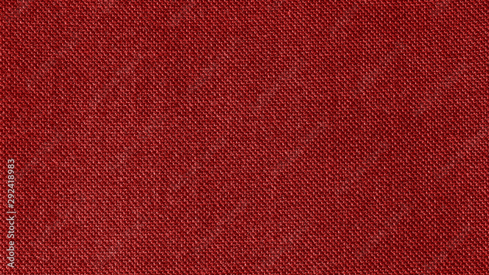 Fototapety, obrazy: Dark red woven fabric texture background. Closeup