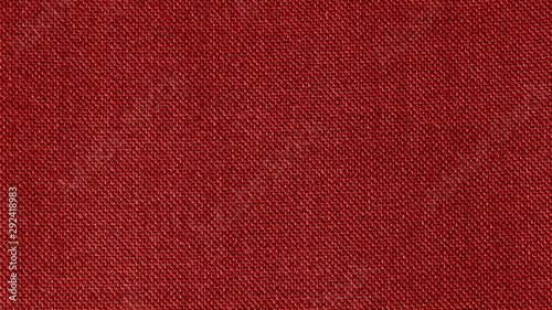 Fototapeta Dark red woven fabric texture background. Closeup obraz
