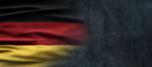 Germany National Holiday. German Flag With Dark Background And National Colors. Unification.
