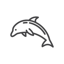 Dolphin Vector Icon, Simple Si...