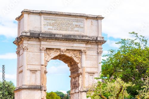 Arch of Titus on Via Sacra, Roman Forum, Rome, Italy Canvas Print