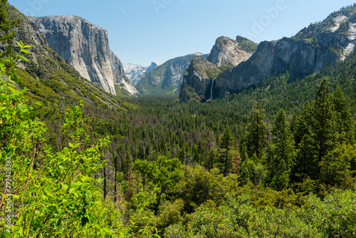 Tunnel View El Capitan Yosemite Valley National Park In California Wallpaper Mural