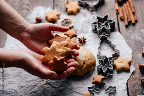 Fotomural Christmas bakery