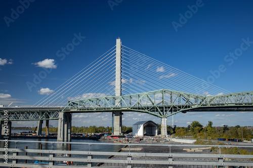 Pont Champlain et Estacade Canvas Print