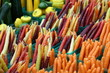 canvas print picture - Karotten auf dem Markt