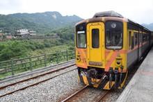 Diesel Multiple Unit Of Pingxi Line At Shifen, Taiwan