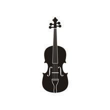 Silhouette Of Violin Cello Fiddle Contrabass