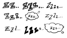 Handdrawn Zzz Symbol For Doodl...