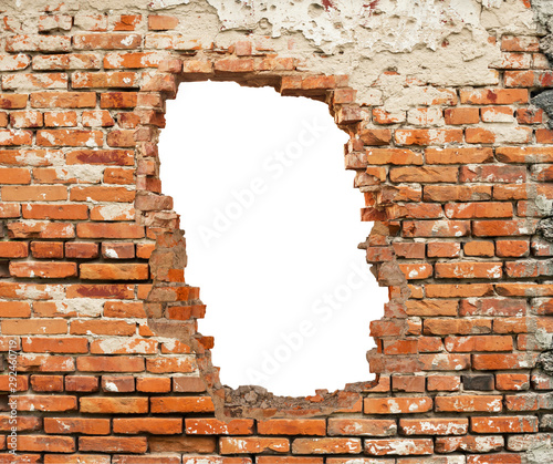 Obraz White hole in brick wall. - fototapety do salonu