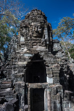 Old Remote Temple Of Banteay Chmar In The Northwest Of Cambodia