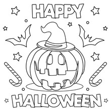 Coloring Page. Black And White...