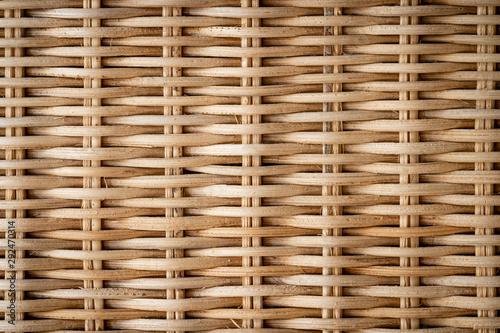A closeup on plaited bamboo. Wallpaper Mural