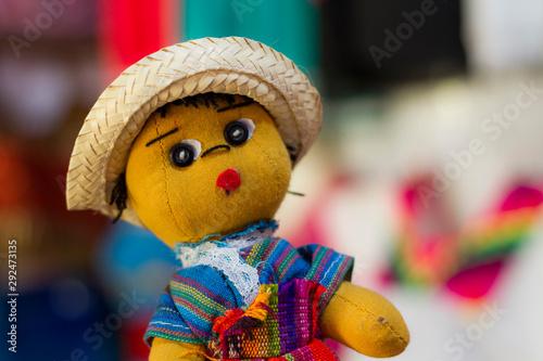 muñeco artesanal mexicano Canvas Print