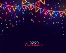 Celebration Background With Ne...